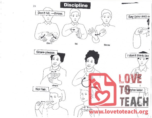 Sign Language - Discipline