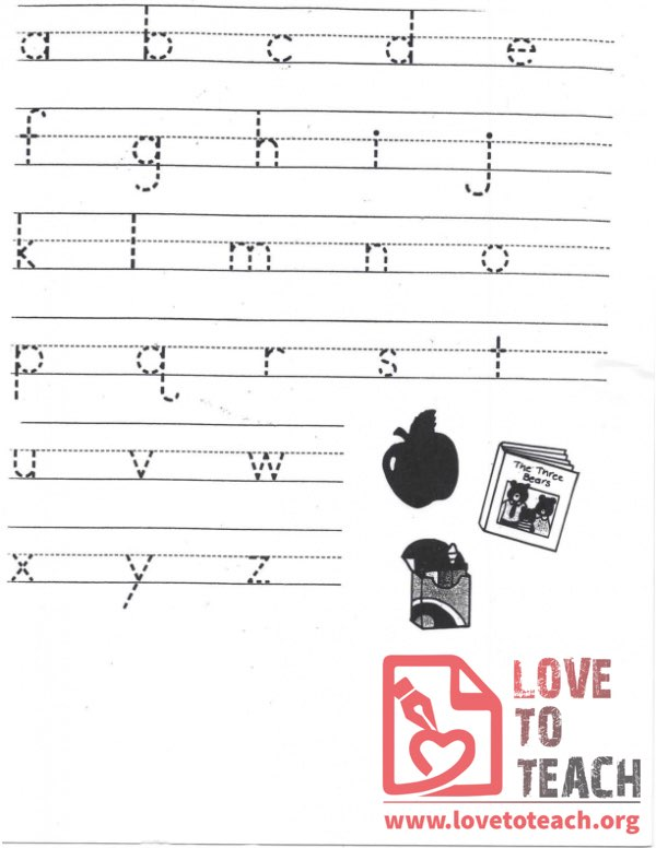 Alphabet Tracing Page
