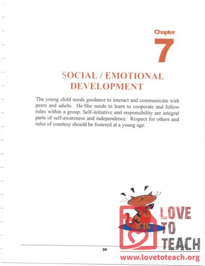 Preschool Curriculum Handbook - Social Emotional Development