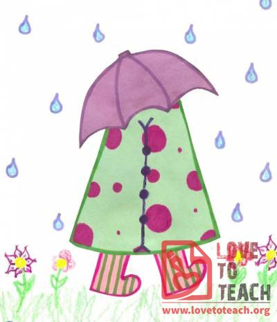 April Showers Craft Template