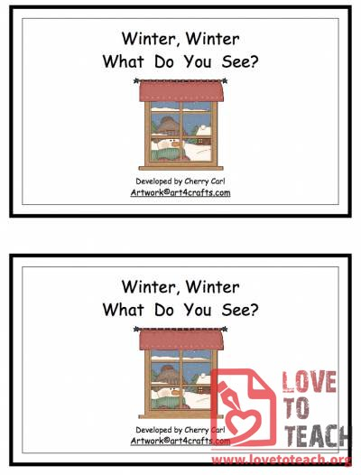 Winter, Winter, What Do You See? Book