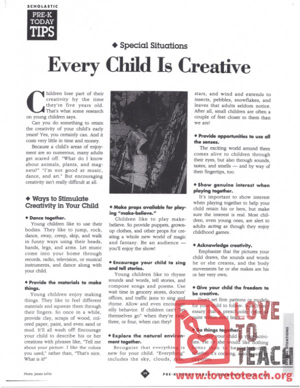 Every Child is Creative