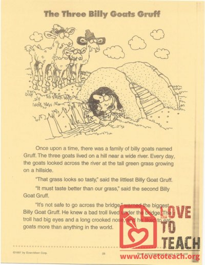 The Three Billy Goats Gruff - Read and Understand Grade 2