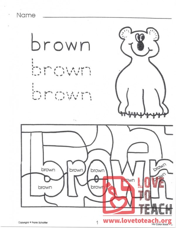 My Color Book - Brown