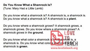 Do You Know What a Shamrock Is? Song