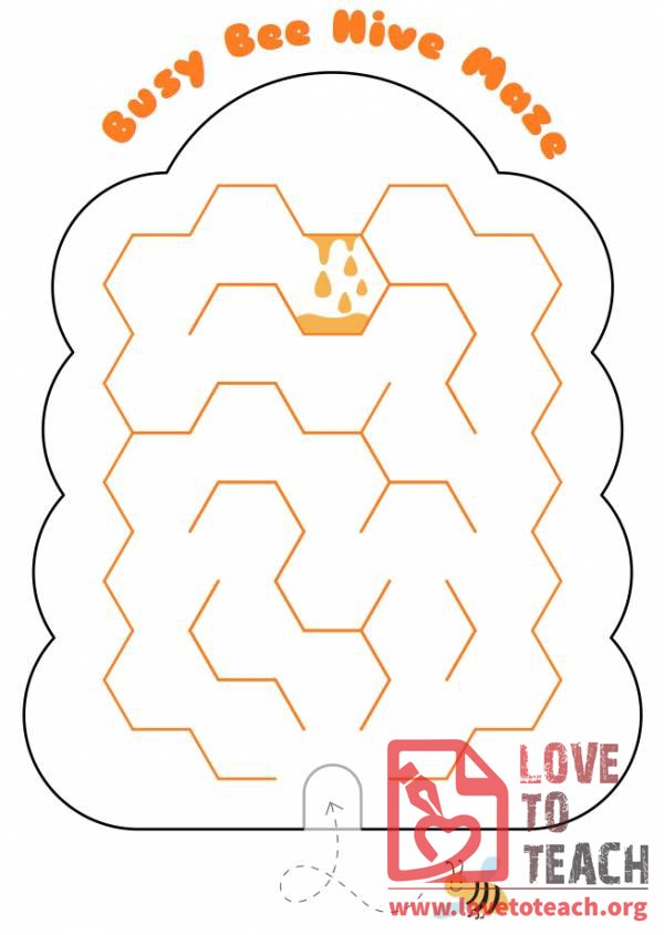 Busy Beehive Maze