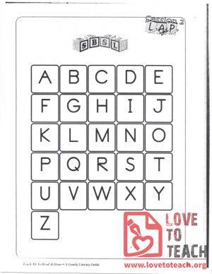 An Alphabet Family Literacy Guide