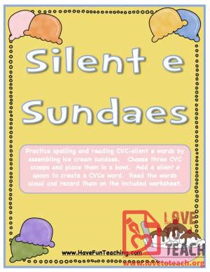 "Silent ""E"" Sundaes (CVCe Activity)"