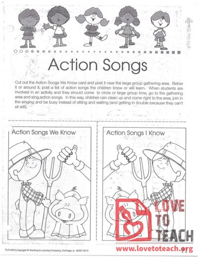 Transitions - Action Songs