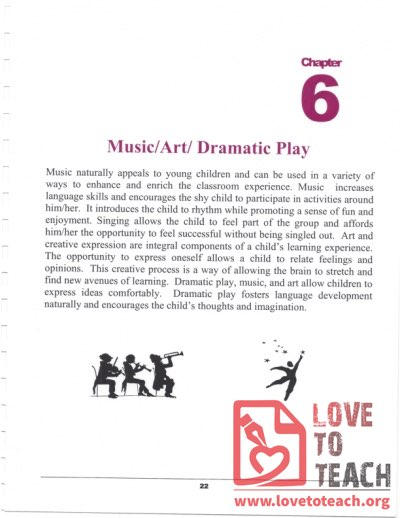 Preschool Curriculum Handbook - Music Art Dramatic Play