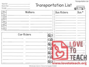 Transportation List