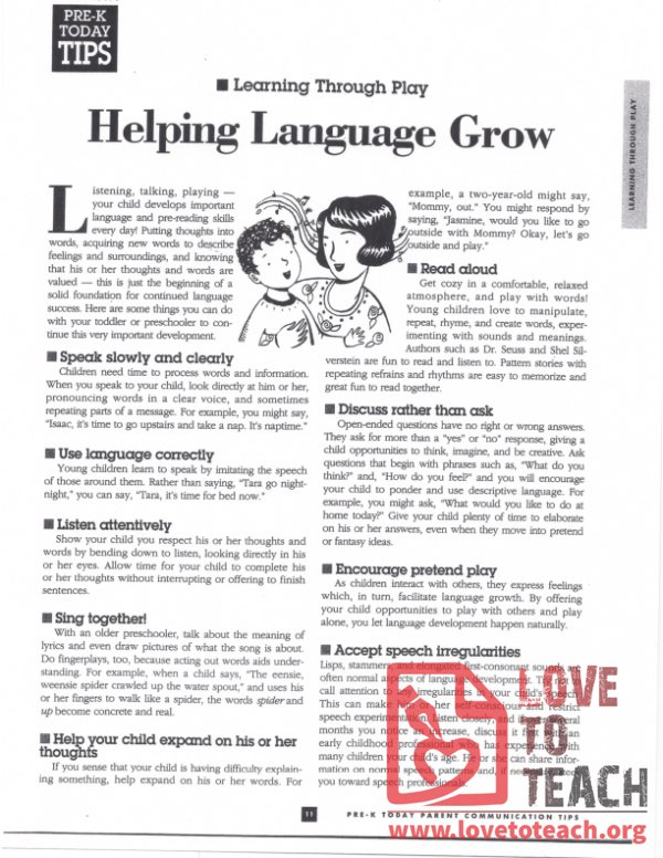 Helping Language Grow