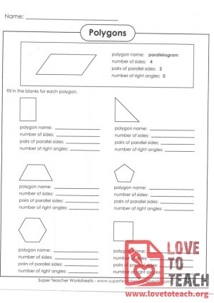 Polygon Identification (with Answer Key)