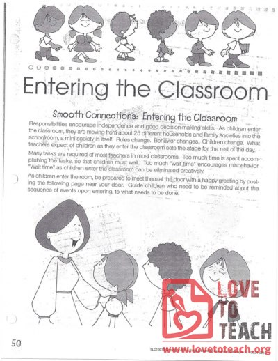 Transitions - Entering The Classroom