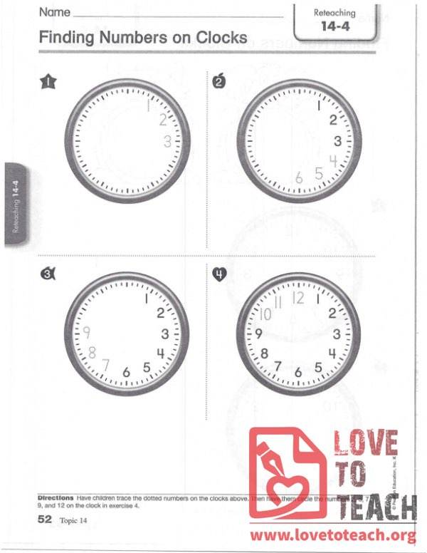 Finding Numbers on Clocks