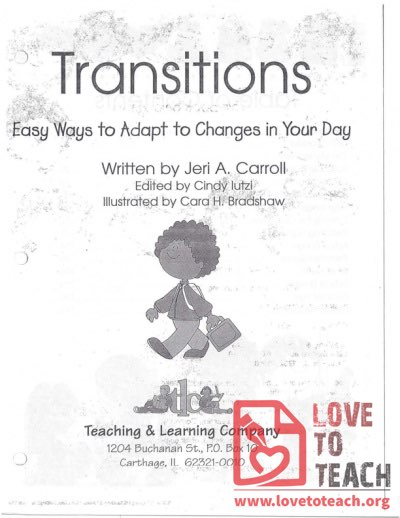 Transitions - Easy Ways to Adapt to Changes into Your Day