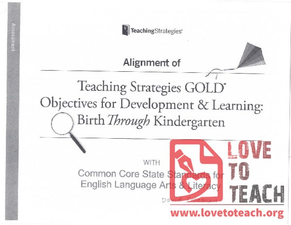 Teaching Strategies - Objectives for Development and Learning, Birth Through Kindergarten