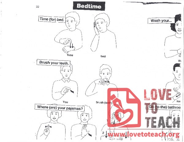 Sign Language - Bedtime