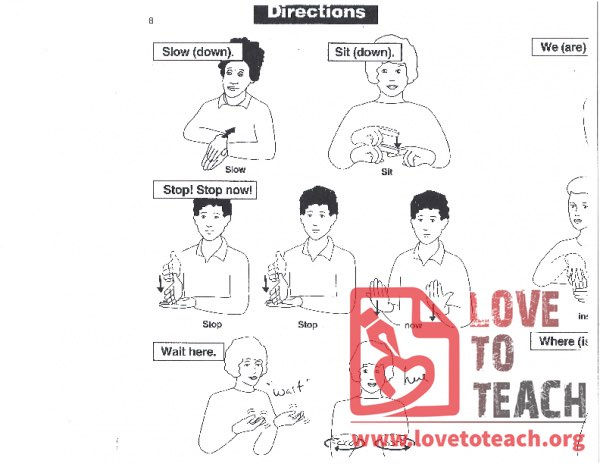 Sign Language - Directions