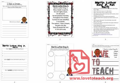 Martin Luther King Jr. Day Packet