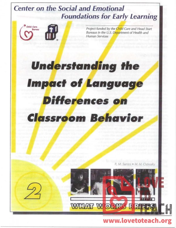 Understanding the Impact of Language Differences on Classroom Behavior