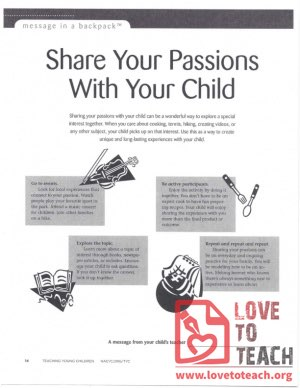 Message in a Backpack - Share Your Passions With Your Child