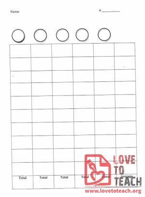Blank Graphing or Tracking Sheet