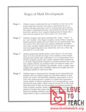 Stages of Math Development