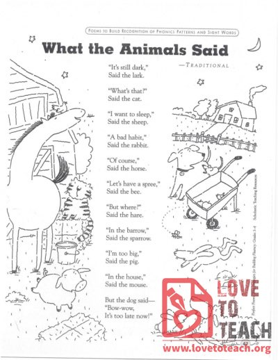 What the Animals Said