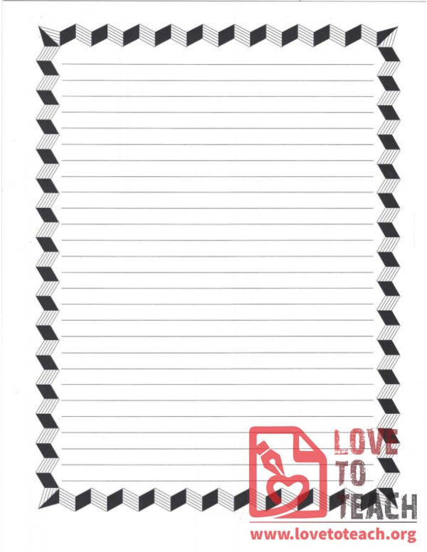 Blank Paper with Borders and Lines