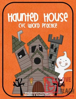 Haunted House CVC Word Practice