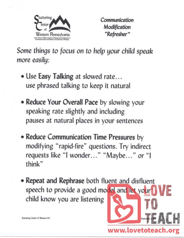"Communication Modification ""Refresher"""