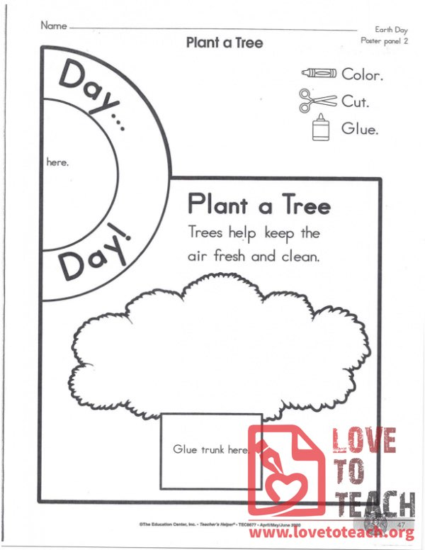 Plant a Tree Coloring Worksheet