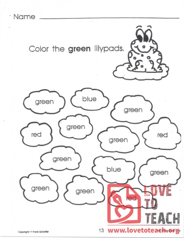 My Color Book - Green