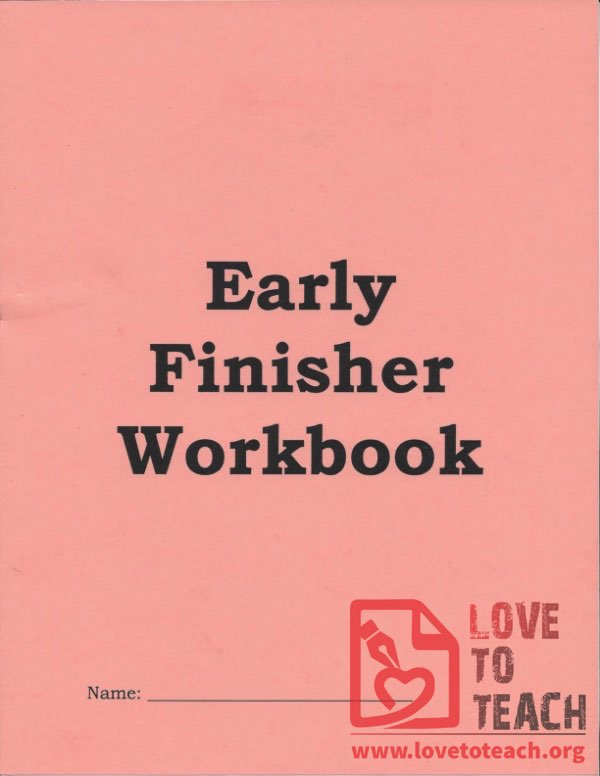 Early Finisher Workbook