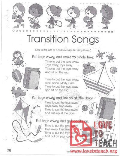 Transition Songs