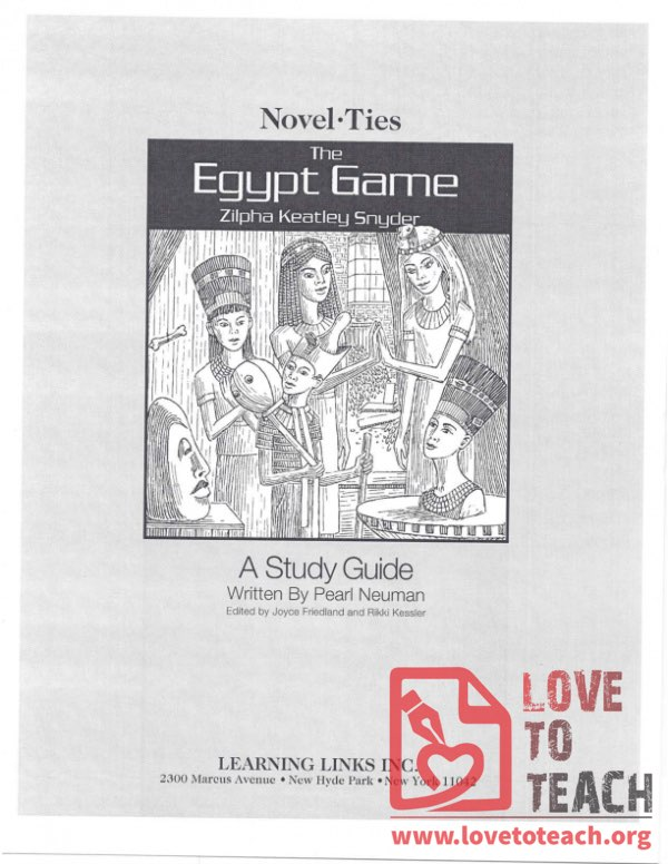 The Egypt Game - A Study Guide
