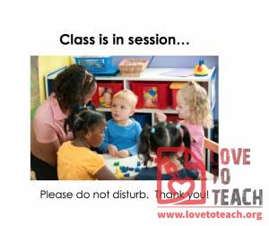 Class In Session Sign