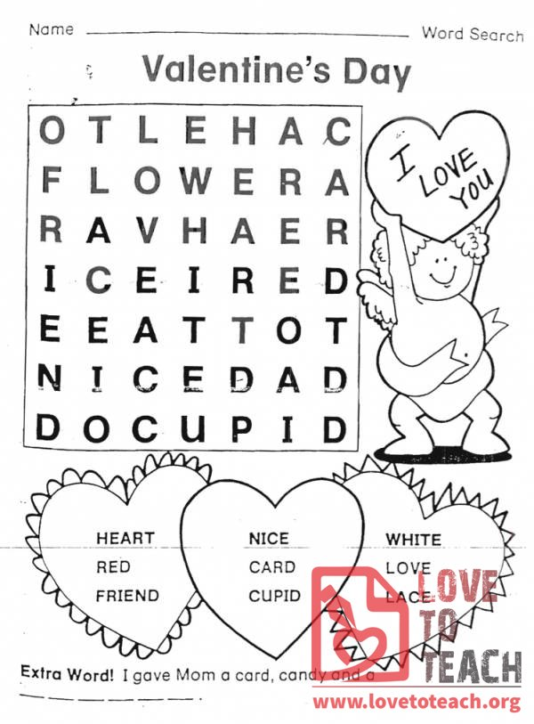 Valentineu0026#039;s Day Word Search