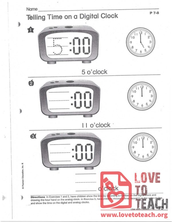 Telling Time on a Digital Clock