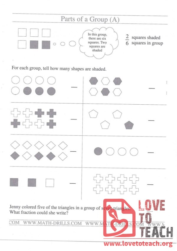 Parts of a Group (with Answer Key)