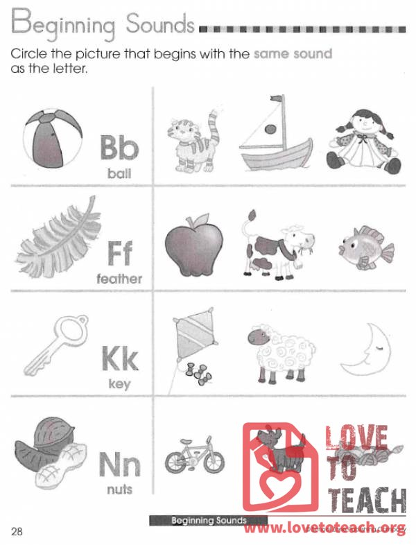 Beginning Sounds Review