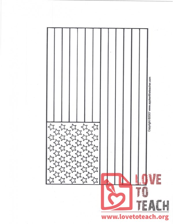 Blank US Flag Coloring Page
