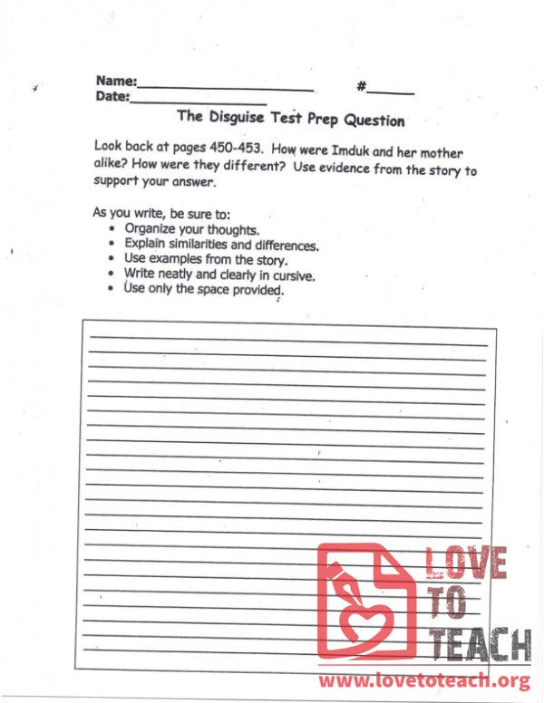 The Disguise - Test Prep Question