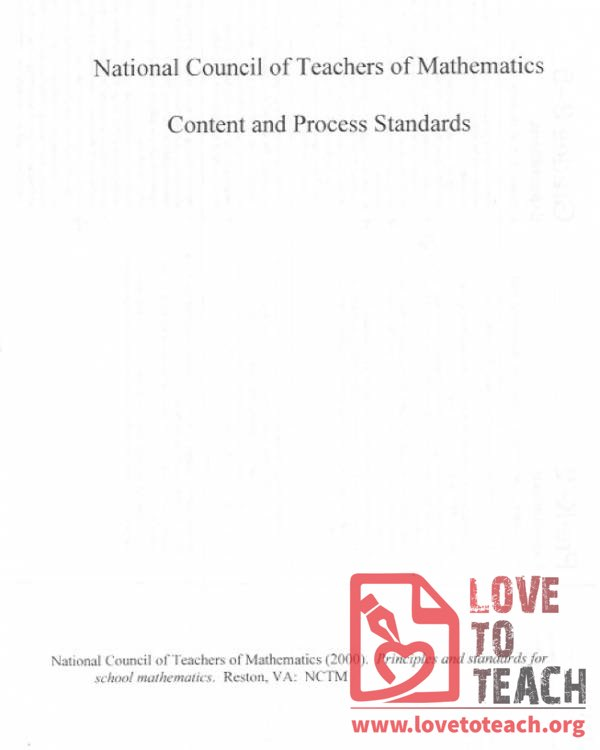 NCTM Content and Process Standards