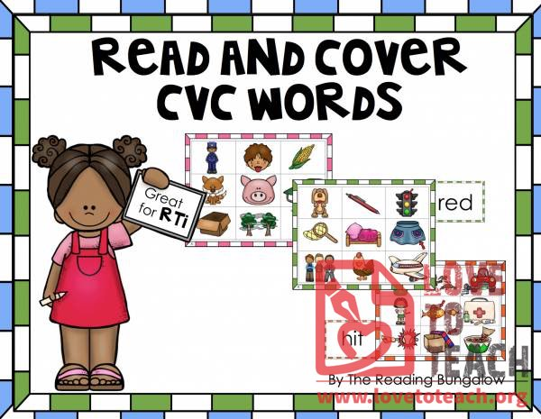 Read and Cover CVC Words