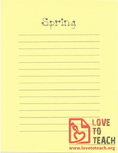 Spring Lined Paper