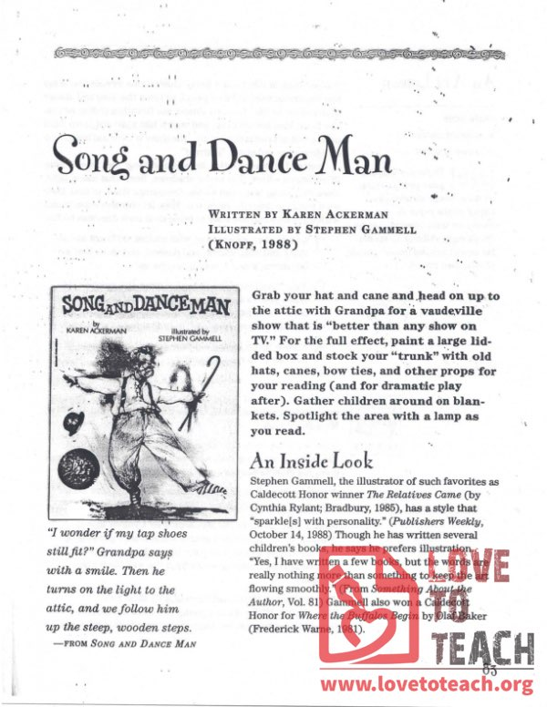Song and Dance Man - Teacher's Guide