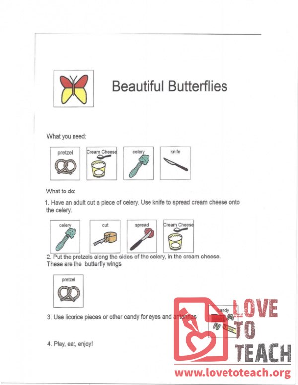 Beautiful Butterflies Recipe