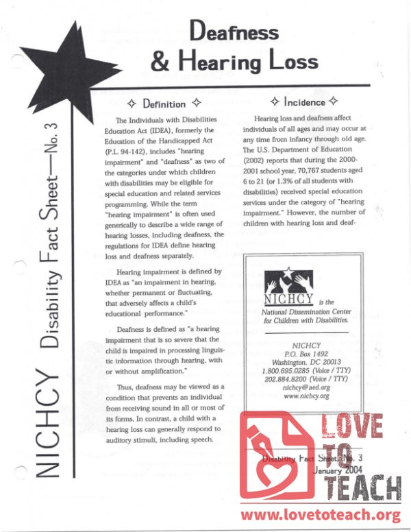 Ability Awareness - Deafness and Hearing Loss